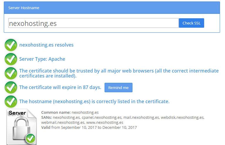 Certificado de seguridad SSL Comodo gratis con tu hosting